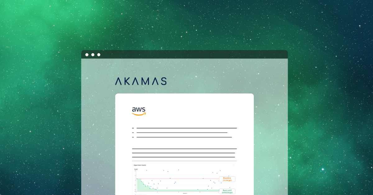Akamas cloud optimization