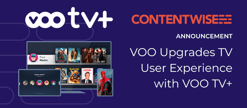 VOO TV Plus adopts ContentWise